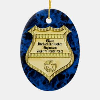 Ornement Ovale En Céramique Obtention du diplôme de police d'insigne/partie de