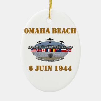 Ornement Ovale En Céramique Omaha Beach 1944