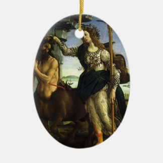Ornement Ovale En Céramique Pallas et le centaure par Sandro Botticelli