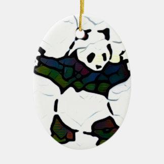 Ornement Ovale En Céramique Panda de tueur