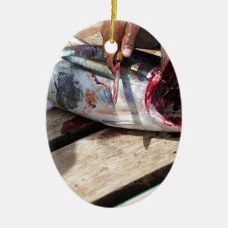 Ornement Ovale En Céramique pêche sportive