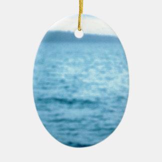 Ornement Ovale En Céramique pélican Pacifique