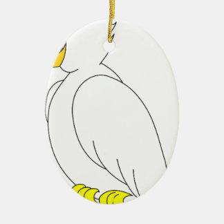 Ornement Ovale En Céramique perroquet #3