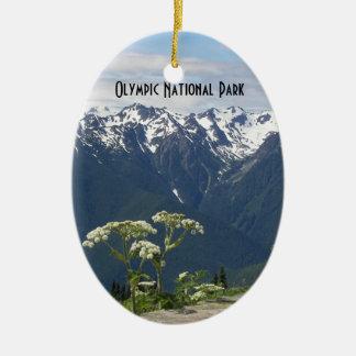 Ornement Ovale En Céramique Photo olympique de parc national