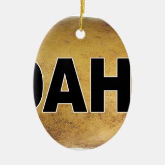 Ornement Ovale En Céramique Pommes de terre ovales de décalque de voiture
