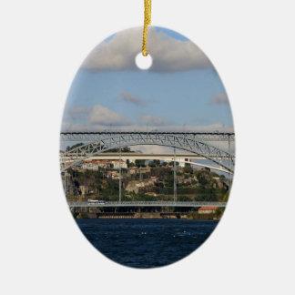 Ornement Ovale En Céramique Pont des DOM Luis I, Porto, Portugal