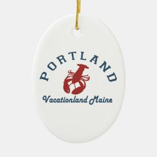 Ornement Ovale En Céramique Portland Maine (2)