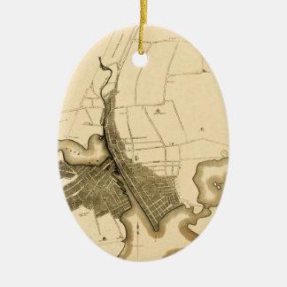 Ornement Ovale En Céramique Providence 1823