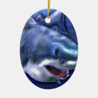 Ornement Ovale En Céramique Requin