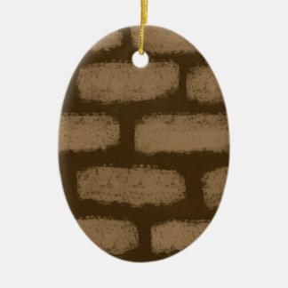 Ornement Ovale En Céramique Ressemble aux briques