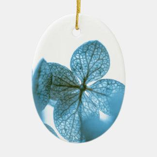 Ornement Ovale En Céramique Rêve bleu