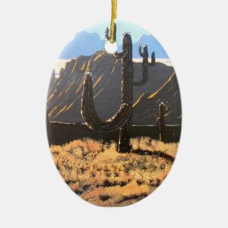 Ornement Ovale En Céramique Rêves de montagne de superstition