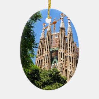 Ornement Ovale En Céramique Sagrada Familia à Barcelone, Espagne