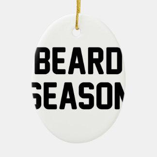 Ornement Ovale En Céramique Saison de barbe