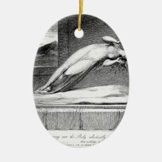 Ornement Ovale En Céramique Schiavonetti - âme laissant le corps