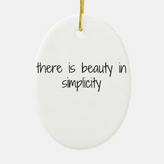 Ornement Ovale En Céramique Simplicité
