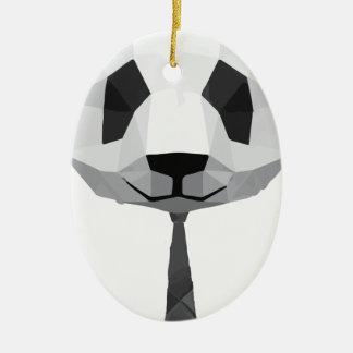 Ornement Ovale En Céramique T-shirt de panda de bureau