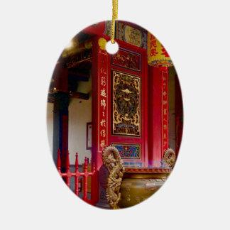 Ornement Ovale En Céramique Temple dans Yilan, Taïwan