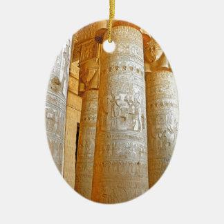 Ornement Ovale En Céramique Temple de Dendera