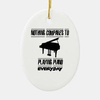 Ornement Ovale En Céramique Tendre des conceptions de pianiste