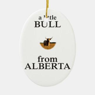 Ornement Ovale En Céramique Un petit Taureau d'Alberta