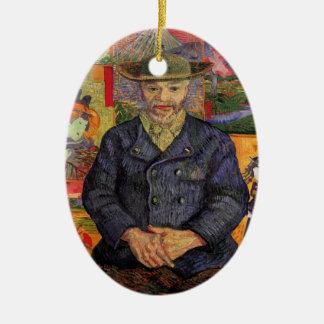 Ornement Ovale En Céramique Van Gogh, portrait de Père Tanguy, art vintage