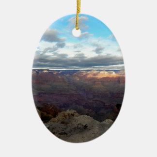 Ornement Ovale En Céramique Vue panoramique du canyon grand