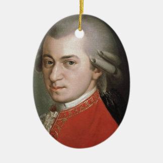 Ornement Ovale En Céramique Wolfgang Amadeus Mozart
