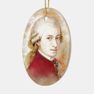 Ornement Ovale En Céramique Wolfgang Amadeus Mozart dans l'aquarelle style