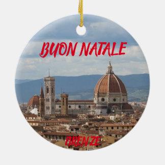 Ornement panoramique de Noël de Florence