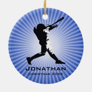 Ornement personnalisé de joueur de baseball