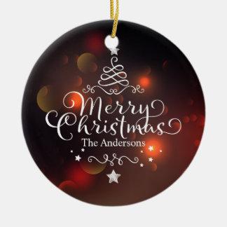 Ornement personnalisé de l'arbre | de Joyeux Noël