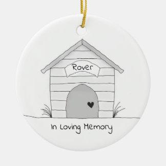 Ornement personnalisé de mémorial d'animal