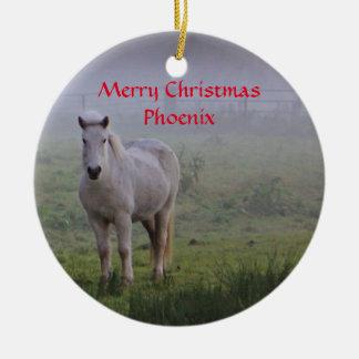 Ornement personnalisé de Noël d'ami de cheval