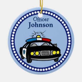 Ornement personnalisé de Noël de voiture de police