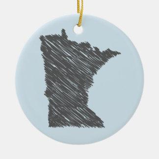 Ornement personnalisé du Minnesota