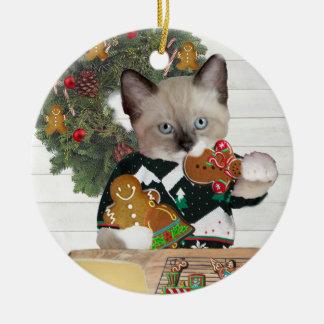 Ornement personnalisé par chaton de biscuit de