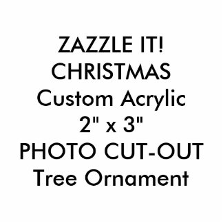 Ornement Photo Sculpture Ornement fait sur commande d'arbre de Noël de