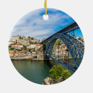 Ornement pittoresque de cercle de Noël de Porto