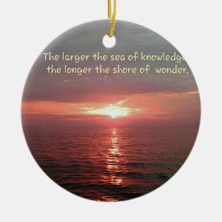 Ornement positif de citation de coucher du soleil