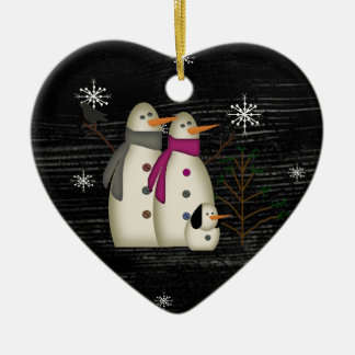Ornement primitif de couples de neige
