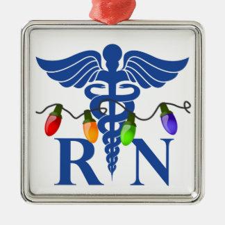 Ornement (RN) de lumières de Noël d'infirmier