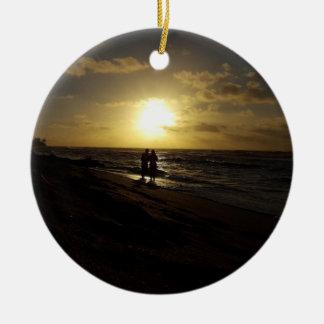 Ornement romantique de plage