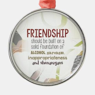 Ornement Rond Argenté 810.friendship-shenanigans