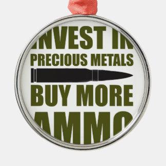 Ornement Rond Argenté Achetez plus de munitions, les investissez en