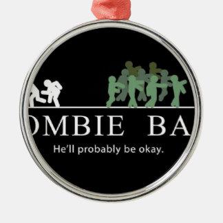 Ornement Rond Argenté amorce de zombi