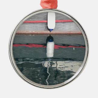 Ornement Rond Argenté Amortisseurs de bateau accrochant sur le conseil