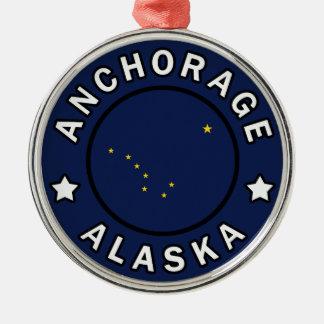 Ornement Rond Argenté Anchorage Alaska