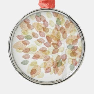 Ornement Rond Argenté Arbre de bouleau dans des couleurs d'automne