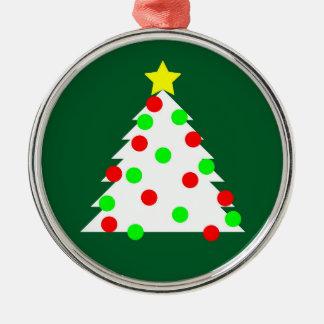 Ornement Rond Argenté Arbre de Noël de papier de coupe-circuit